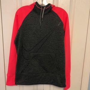 Nike Swoosh Cowl Neck Hoodie Therma Fit Excellent